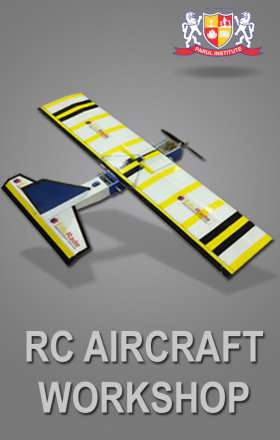 aeromodelling workshop on rc aircraft organised by Edurade at Parul University Vadodara